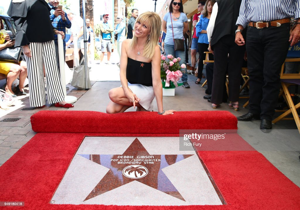 The Palm Springs Walk Of Stars Honors Debbie Gibson With Star Dedication Ceremony