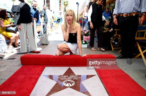 Debbie Gibson attends The Palm Springs Walk of Stars honoring Debbie Gibson with a Star Dedication Ceremony on April 20 2018 in Palm Springs...