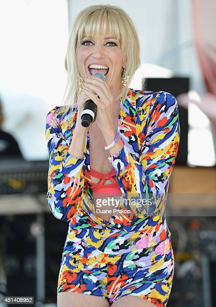 Debbie Gibson performs as the 26th Anniversary Headliner during Cleveland Pride 2014 at Voinovich BIcentennial Park on June 28 2014 in Cleveland Ohio