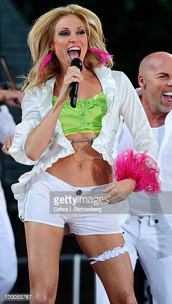 Debbie Gibson performs on ABC's Good Morning America at Rumsey Playfield Central Park on July 29 2011 in New York City