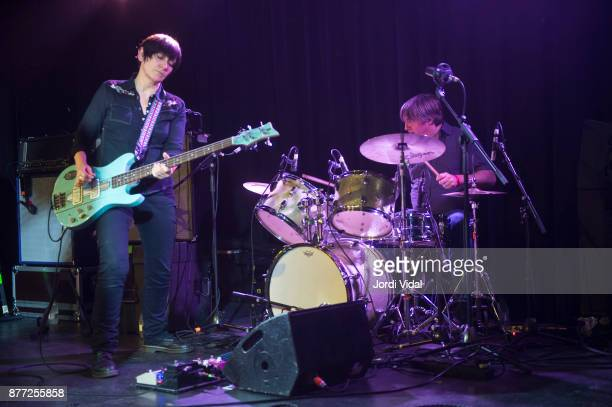 Debbie Googe and Steve Shelley perform on stage at Sala Apolo on November 21 2017 in Barcelona Spain