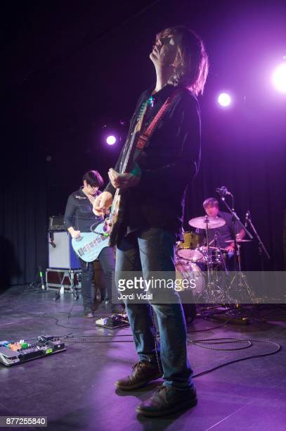 Debbie Googe Thurston Moore and Steve Shelley perform on stage at Sala Apolo on November 21 2017 in Barcelona Spain
