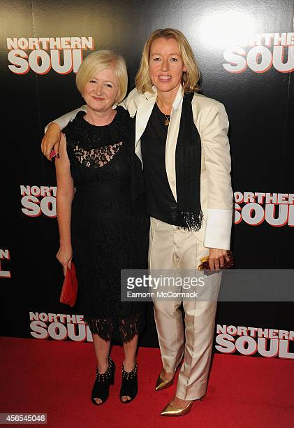 Debbie Gray and Elaine Constantine attend the UK Gala screening of 'Northern Soul' at Curzon Soho on October 2 2014 in London England