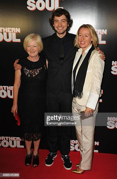 Debbie Gray Joshua Whitehouse and Elaine Constantine attend the UK Gala screening of 'Northern Soul' at Curzon Soho on October 2 2014 in London...