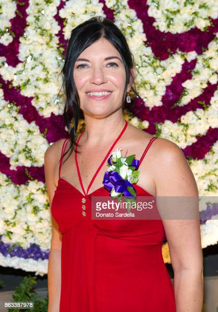 Debbie Hannah at Living Beauty 'The Gift' Photo Exhibit at The Buterbaugh Gallery on October 19 2017 in Los Angeles California