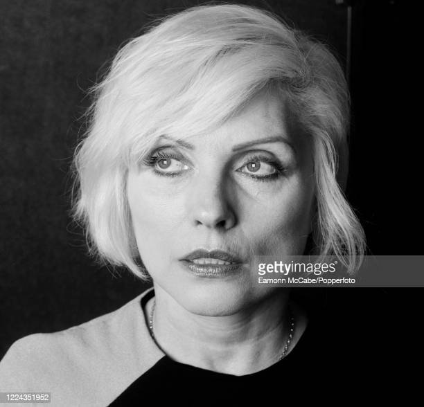 Debbie Harry, American singer, circa October 2002. Harry rose to fame as the lead singer of the new wave band Blondie. The band formed in the late...