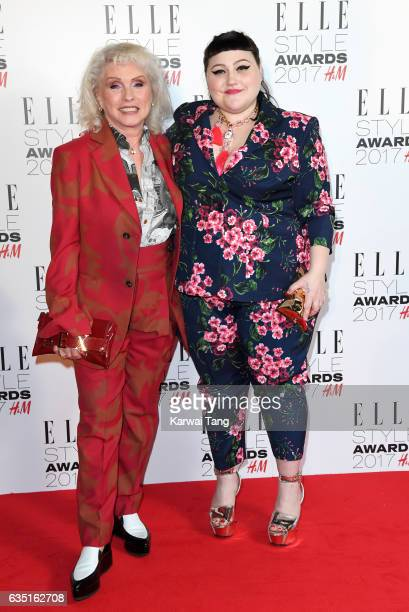 Debbie Harry and Beth Ditto attend the Elle Style Awards 2017 on February 13 2017 in London England