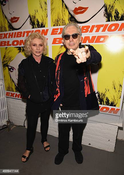 Debbie Harry and Chris Stein attend The 40th Anniversary Of Blondie exhibition at Chelsea Hotel Storefront Gallery on September 22, 2014 in New York...