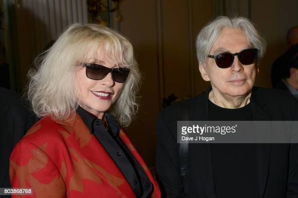 Debbie Harry and Chris Stein attend the Nordoff Robbins' O2 Silver Clef Awards at The Grosvenor House Hotel on June 30 2017 in London England