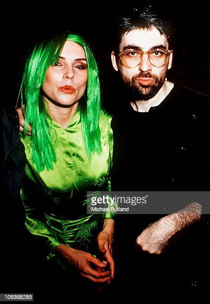 Debbie Harry and Chris Stein of Blondie at a party for the release of her Harry's album KOO KOO New York 1981