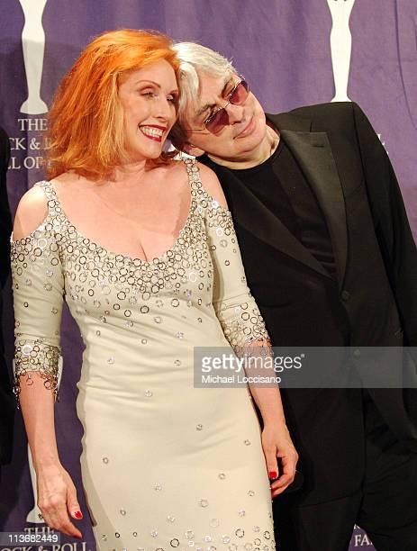 Debbie Harry and Chris Stein of Blondie inductees