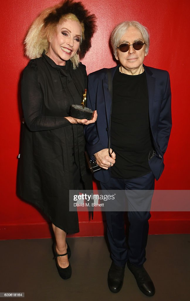 Debbie Harry (L) and Chris Stein of Blondie, winners of the Q Outstanding Contribution To Music award, pose at The Stubhub Q Awards 2016 at The Roundhouse on November 2, 2016 in London, England.