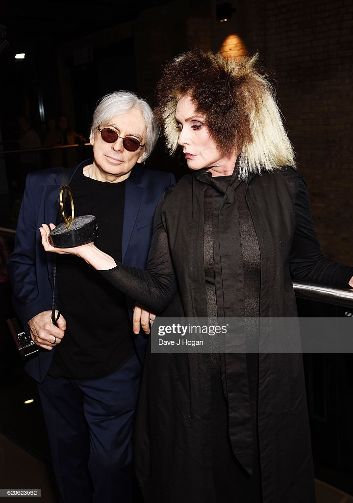Debbie Harry and Chris Stein with the Outstanding Contribution to Music award during The Stubhub Q Awards 2016 at The Roundhouse on November 2, 2016 in London, England.