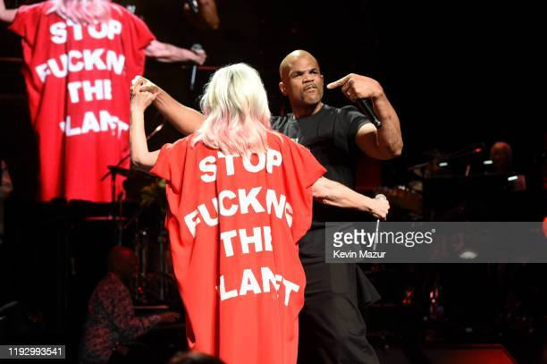 Debbie Harry and DMC perform onstage during The Rainforest Fund 30th Anniversary Benefit Concert Presents 'We'll Be Together Again' at Beacon Theatre...