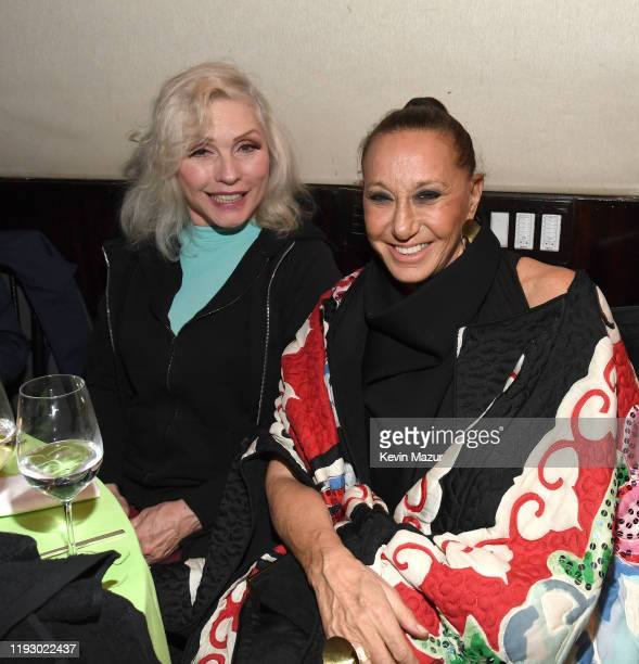 Debbie Harry and Donna Karan attend The Rainforest Fund 30th Anniversary Benefit Concert Presents 'We'll Be Together Again' After Party at Mandarin...