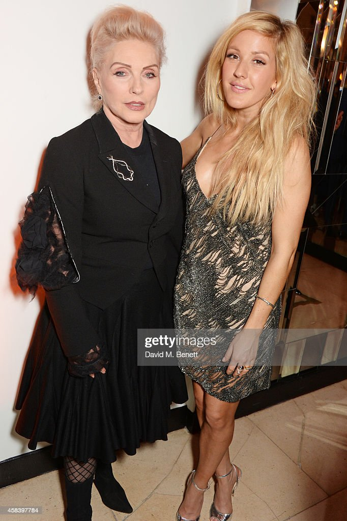 Debbie Harry (L) and Ellie Goulding attend the Harper's Bazaar Women Of The Year awards 2014 at Claridge's Hotel on November 4, 2014 in London, England.