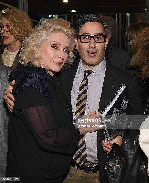 Debbie Harry and Jason Weinberg attend The 40th Anniversary Of Blondie exhibition at Chelsea Hotel Storefront Gallery on September 22, 2014 in New...