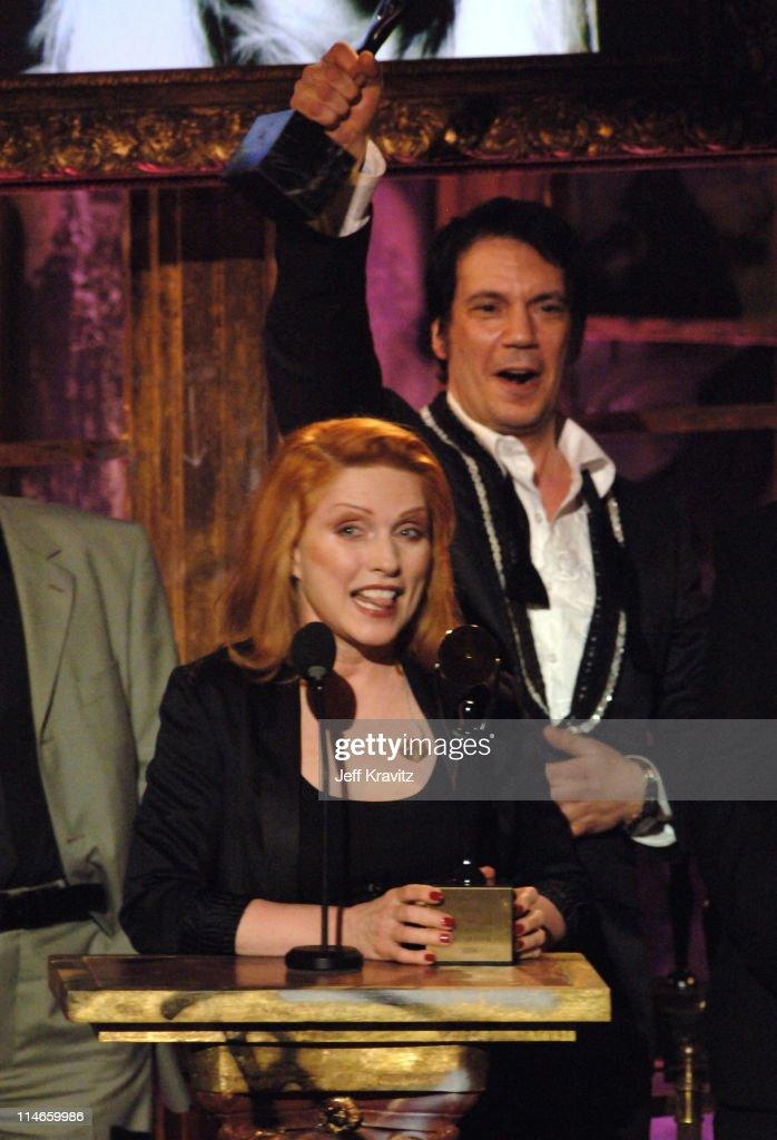 Debbie Harry and Jimmy Destri of Blondie, inductee