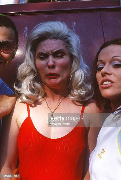 Debbie Harry and Lady Keir attend Wigstock! 1993 in Tompkins Square Park circa 1993 in New York City.