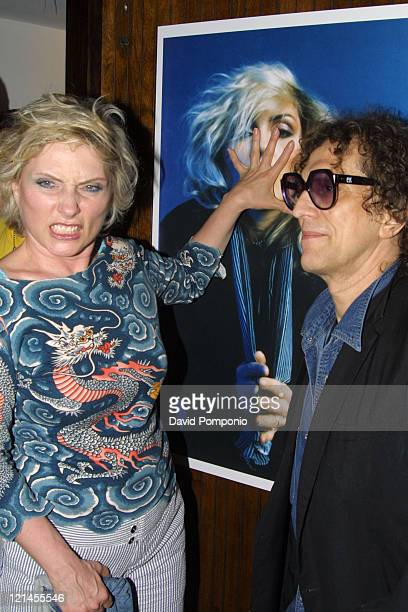 """Debbie Harry and Mick Rock during """"Picture This: Debbie Harry and Blondie"""" by Mick Rock Book Launch Party - Arrivals at Hiro Ballroom in The Maritime..."""