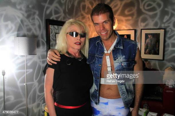Debbie Harry and Perez Hilton attend Perez Hilton's 7th annual One Night in Austin at the Austin Music Hall on March 15 2014 in Austin Texas