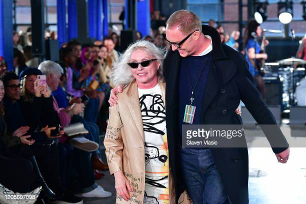 Debbie Harry and Stuart Vevers on the runway for the Coach 1941 fashion show during February 2020 New York Fashion Week on February 11 2020 in New...