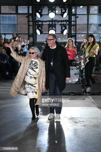 Debbie Harry and Stuart Vevers walk the runway at the Coach 1941 Ready to Wear Fall/Winter 20202021 fashion show during New York Fashion Week on...