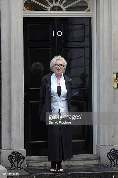 Debbie Harry attends a special reception marking the previous night's Cosmopolitan Women Of The Year ceremony at 10 Downing Street on November 4,...