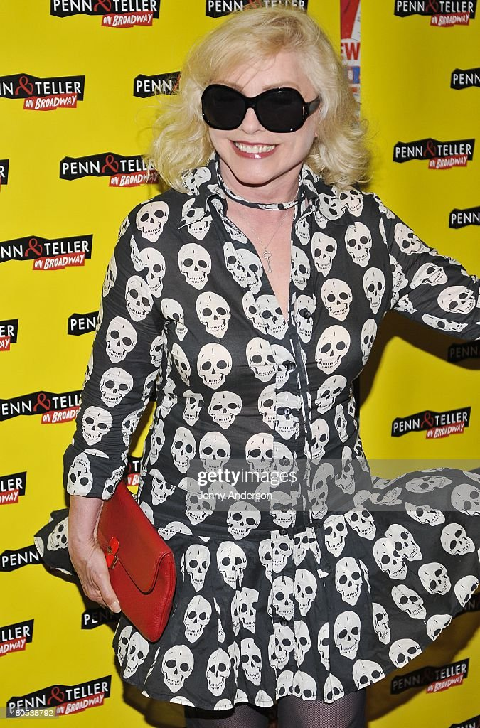 Debbie Harry attends 'Penn & Teller On Broadway' at Marquis Theatre on July 12, 2015 in New York City.