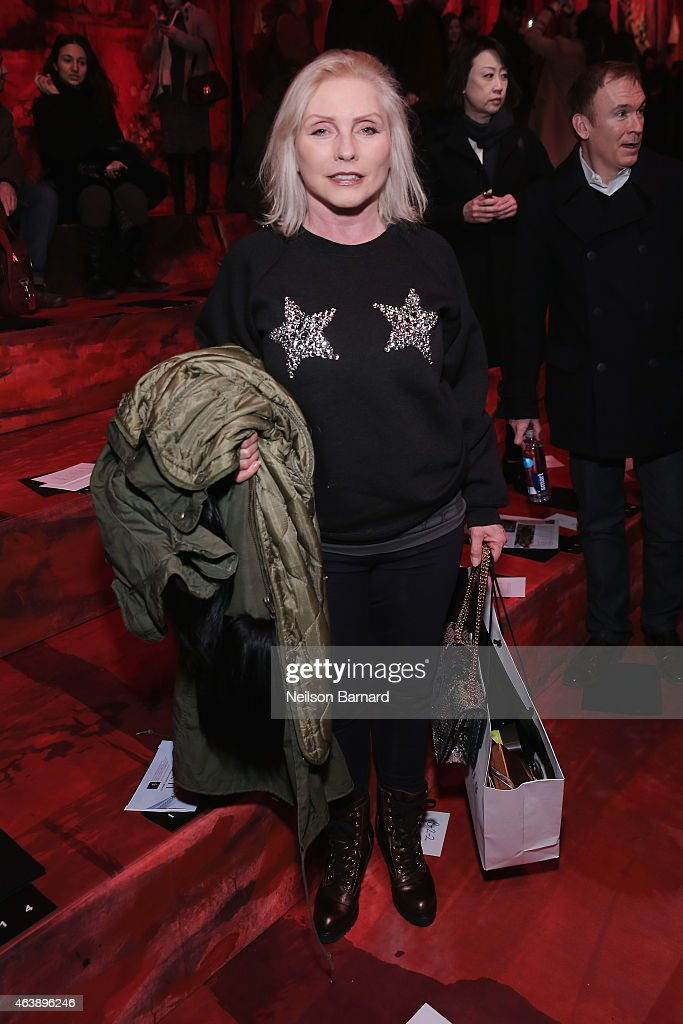 Debbie Harry attends the Marc Jacobs fashion show during Mercedes-Benz Fashion Week Fall 2015 at Park Avenue Armory on February 19, 2015 in New York City.
