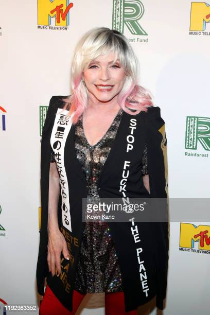 Debbie Harry attends the The Rainforest Fund 30th Anniversary Benefit Concert Presents 'We'll Be Together Again' at Beacon Theatre on December 09...