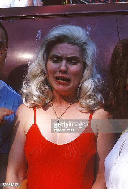 Debbie Harry attends Wigstock! 1993 in Tompkins Square Park circa 1993 in New York City.