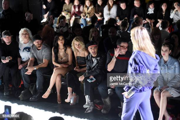 Debbie Harry Kylie Jenner Sofia Richie Ashley Benson and Barbara Palvin sit front row at the Jeremy Scott collection during New York Fashion Week The...