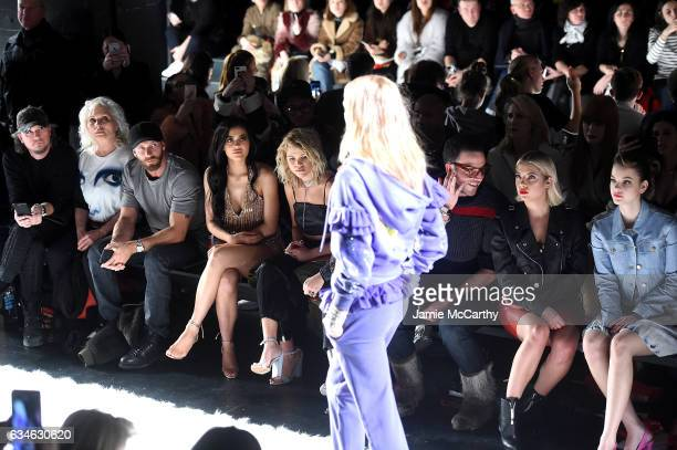 Debbie Harry Kylie Jenner Sofia Richie Ashley Benson and Sarah Barthel sit front row at the Jeremy Scott collection during New York Fashion Week The...