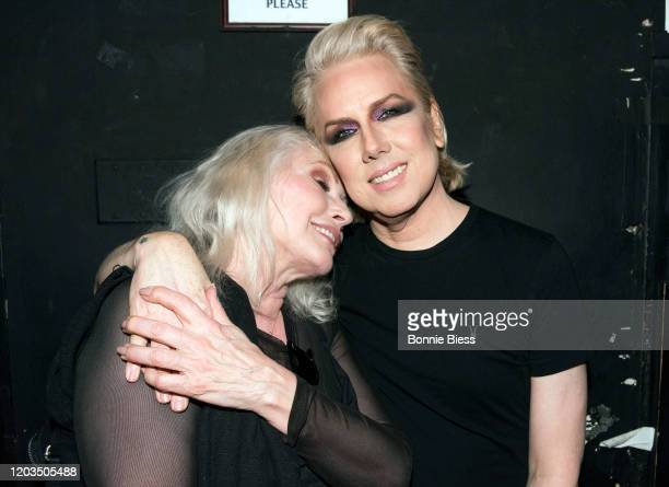 Debbie Harry of Blondie and Miss Guy attend Princess Goes To The Butterfly Museum In Concert at Mercury Lounge on February 01 2020 in New York City