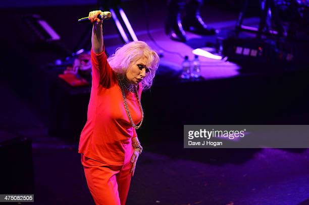 Debbie Harry of Blondie onstage at the annual NME Awards at Brixton Academy on February 26 2014 in London England