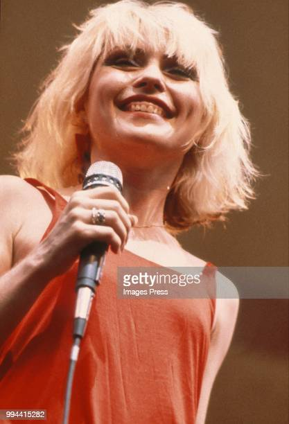 Debbie Harry of Blondie performing circa 1977 in New York
