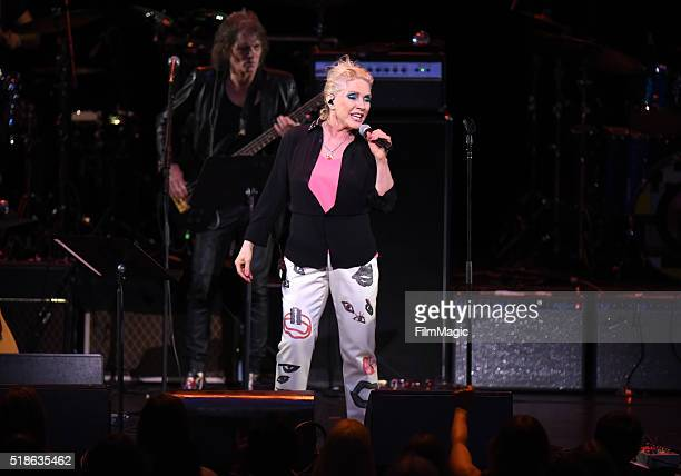 Debbie Harry of Blondie performs 'Heroes' onstage at Michael Dorf Presents The Music of David Bowie at Radio City Music Hall on April 1 2016 in New...