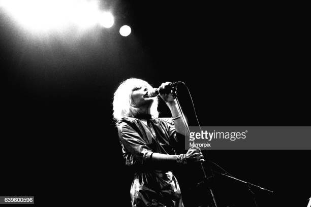 Debbie Harry of Blondie performs in concert at Newcastle City Hall 4 January 1980