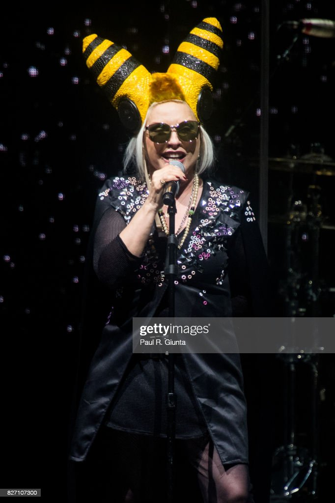 Debbie Harry of Blondie performs on stage at Chastain Park Amphitheater on August 6, 2017 in Atlanta, Georgia.