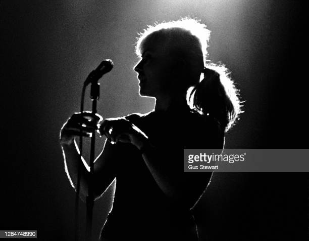 Debbie Harry of Blondie performs on stage at Hammersmith Odeon, London, England, in January 1980.