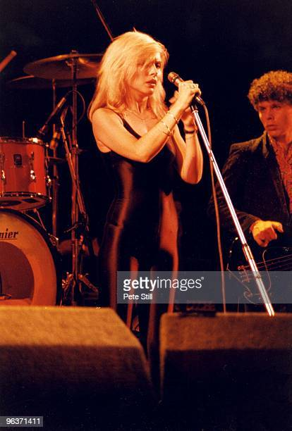 Debbie Harry of Blondie performs on stage at Hammersmith Odeon on September 16th 1978 in London United Kingdom