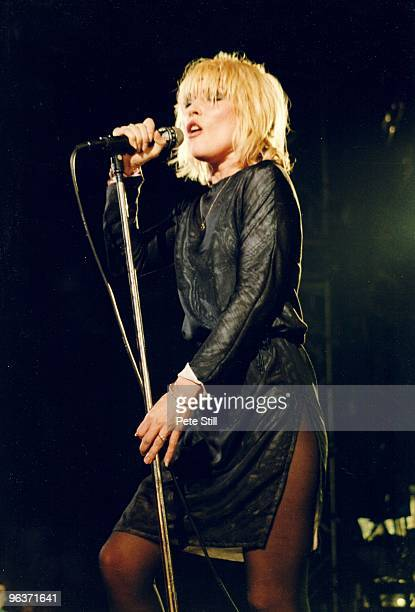 Debbie Harry of Blondie performs on stage at Hammersmith Odeon on January 11th, 1980 in London United Kingdom.