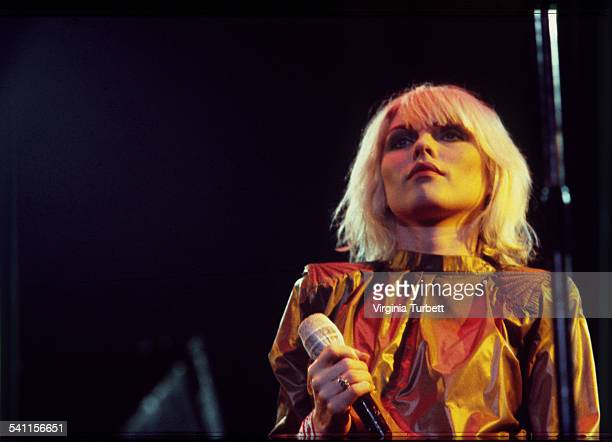 Debbie Harry of Blondie performs on stage United Kingdonm January 1980