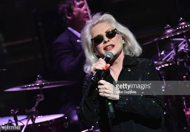 Debbie Harry of Blondie performs onstage at the Woman's Day Celebrates 15th Annual Red Dress Awards on February 6, 2018 in New York City.