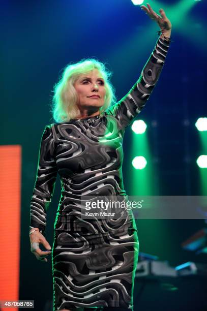 Debbie Harry of Blondie performs onstage during the Amnesty International Concert presented by the CBGB Festival at Barclays Center on February 5...
