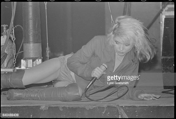 Debbie Harry of Blondie Reclining During Performance
