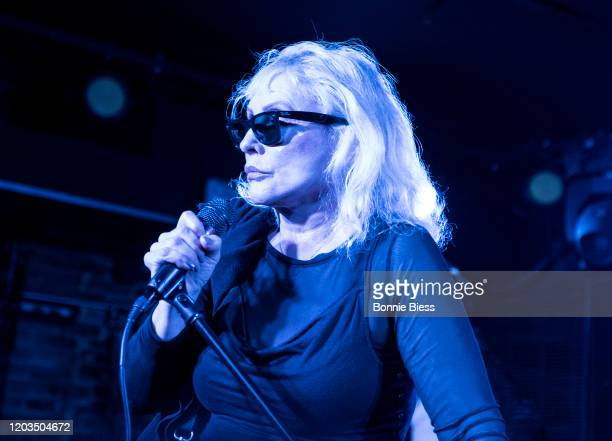 Debbie Harry of Blondie sings Happy Birthday to Michael C. Hall of Princess Goes To The Butterfly Museum onstage during Princess Goes To The...