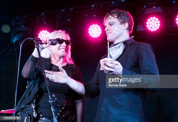 Debbie Harry of Blondie sings Happy Birthday to Michael C Hall of Princess Goes To The Butterfly Museum onstage during Princess Goes To The Butterfly...