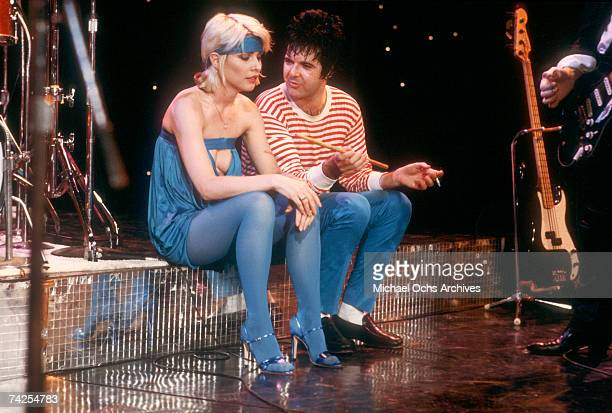 Debbie Harry of the New wave group Blondie performs 'Heart of Glass' on the TV show Midnight Special that aired on January 19 1979 in Los Angeles...